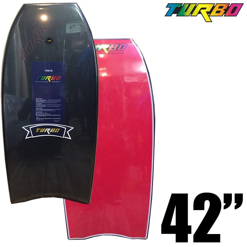 ボディボード TURBO SURF DESIGNS PRO COMP MODEL 42インチ BLACK DECK RED BOTTOM ターボ BODY BOARD