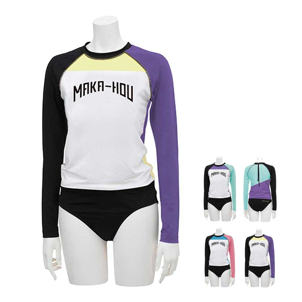MAKA-HOU レディースラッシュガード Turtle Neck with Hot Pants 25W04 71S UVカット 紫外線対策 女性用