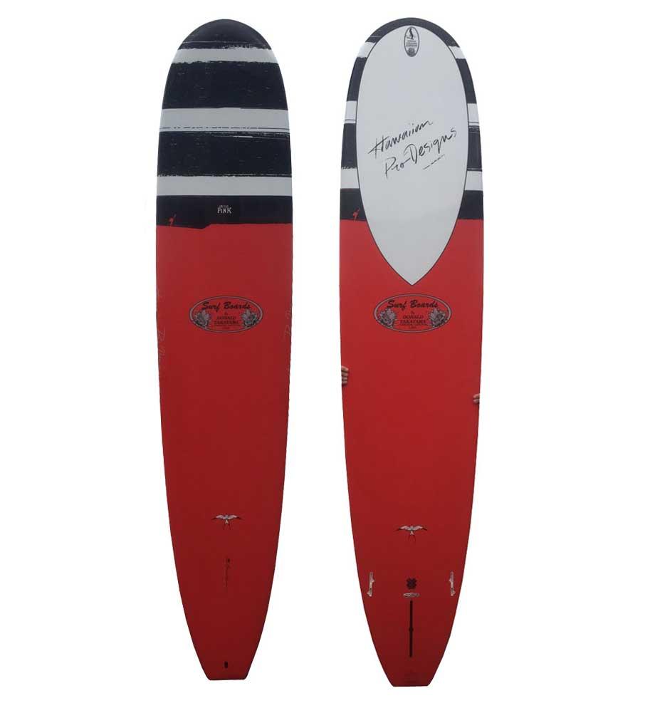 ロングボード SURFTECH HAWAIIAN PRO DESIGNS ドナルドタカヤマ IN THE PINK 9'0 RED サーフボード サーフテック ハワイアンプロデザイン インザピンク エポキシ
