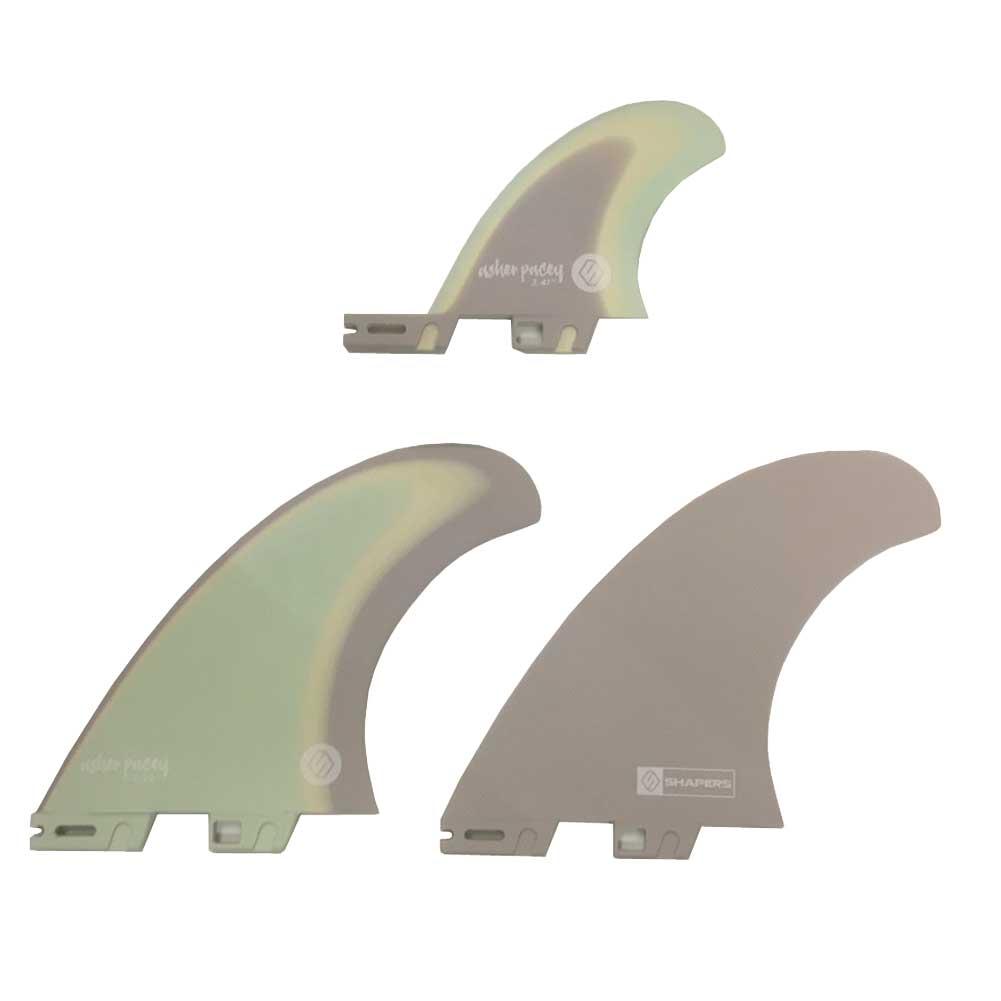 【平日13時までのご注文は当日発送】 SHAPERS FINS ASHER PACEY5.59 Pastel Twin Fin + optional traier fin S2BASE FCS2タイプ シェーパーズフィン アッシャー・ペイシー ツインフィン ショートボードフィン サーフィン