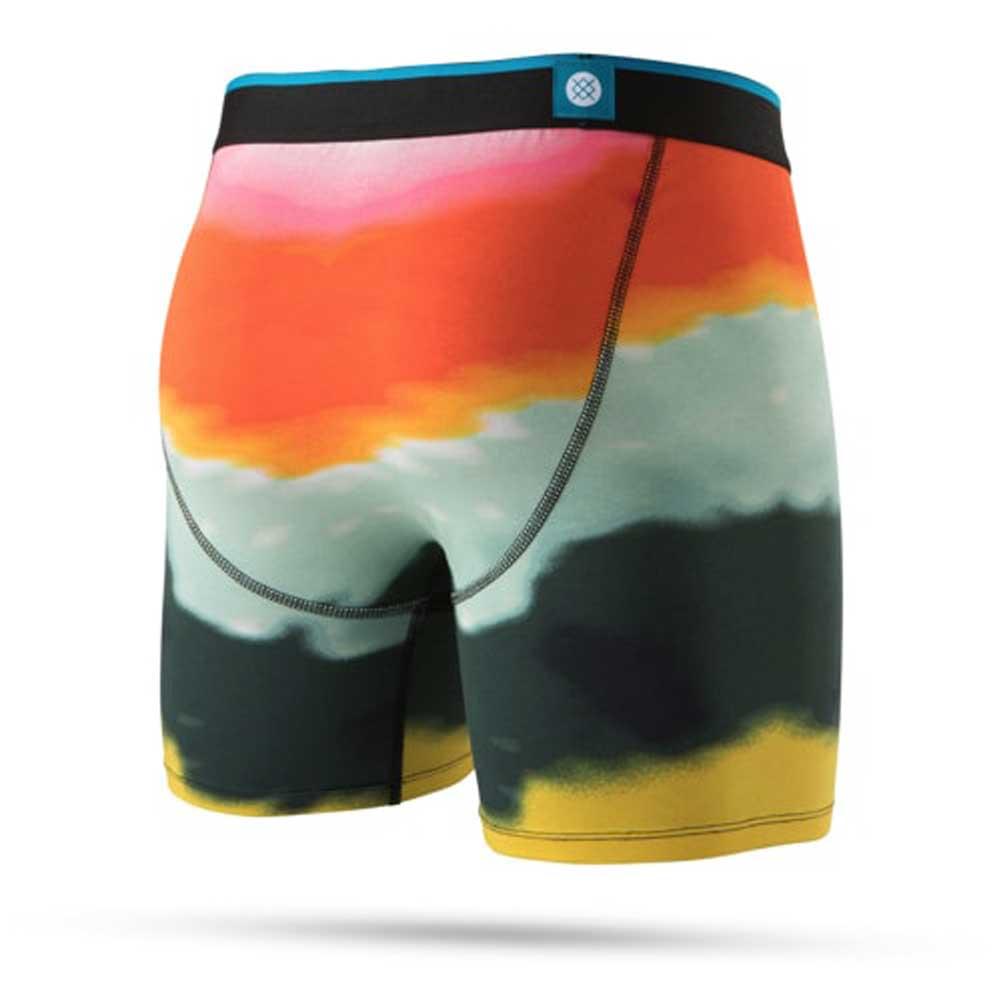 Men Underwear Feather Icon Elastic Waist Boxer Briefs S