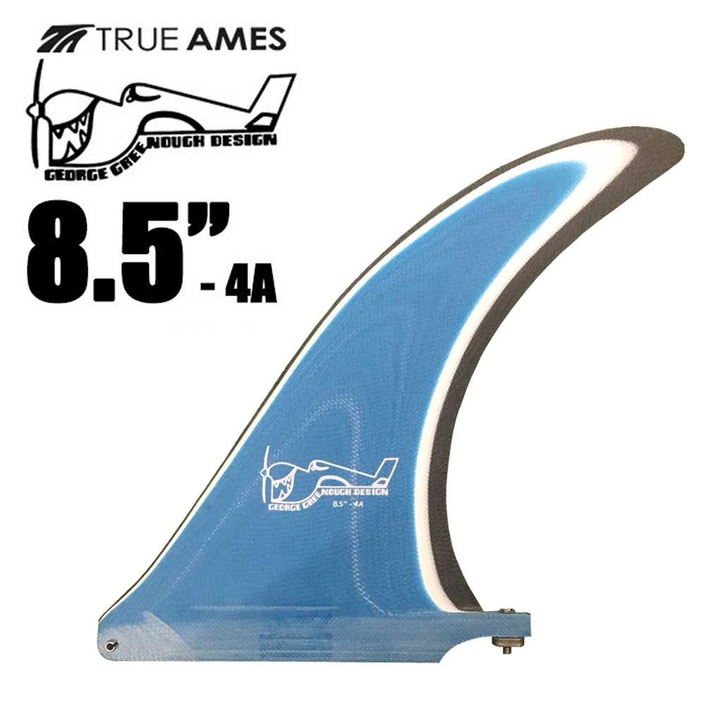 "TRUE AMES FIN GEORGE GREENOOGH FIN 4A 8.5""MULTI トゥルーアームスフィン ジョージグリノーフィン マルチカラーBLUE/WHT/BLK/ロングボード センターフィン【小型宅配便】【コンビニ受取対応商品】"