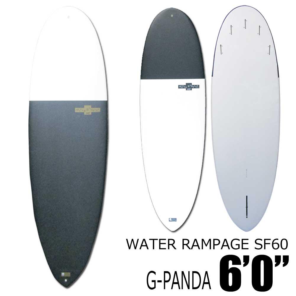 ソフトサーフボード ウォーターランページWATER RAMPAGESF60 G-PANDA 6'0 ショートボード ファンボード