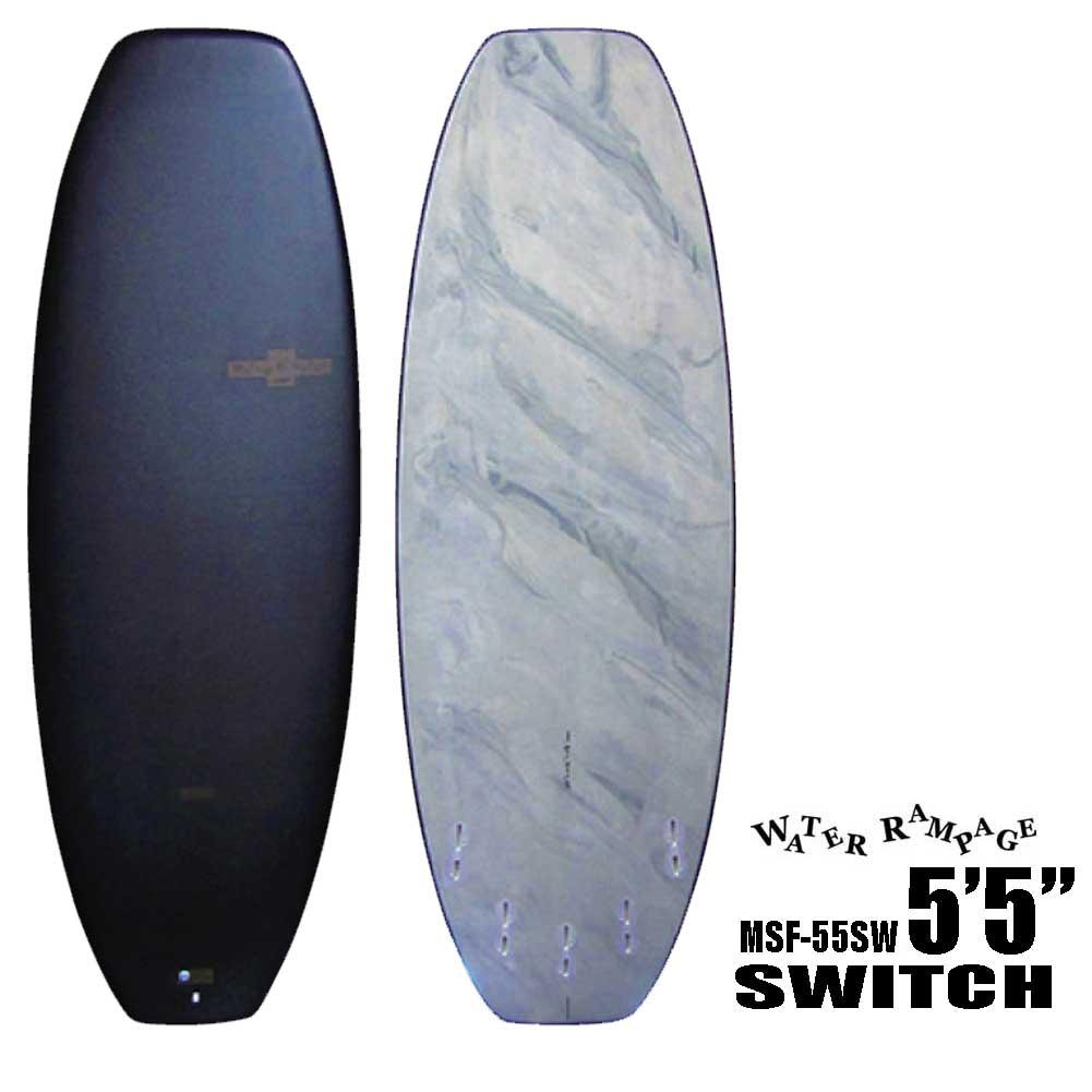ポイント最大28倍!4/16(火)01:59まで ソフトボード ウォーターランページ スイッチ 5'5 Water Rampage SWITCH MSF-55SW ショートボード サーフィン ソフトサーフボード