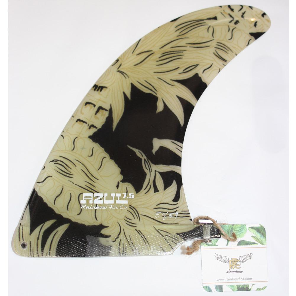 【平日13時までのご注文は当日発送】 Rainbow fin Traveler Series Black Pineapple 7.5 レインボーフィン トラベラーシリーズ ロングボードフィン ブラック パイナップル