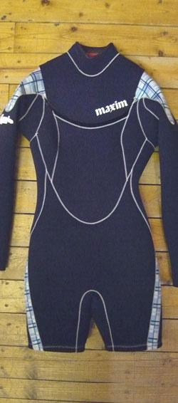 【平日13時までのご注文は当日発送】 現品限り MAXIM レディースウェットスーツ マリーナコラボモデル ロングスプリング3 2mm N12W COMBI MODEL 女性用ウェットスーツ
