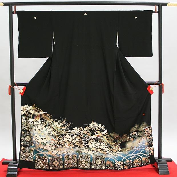 留袖レ ンタル 送料往復込み 【レンタル19点フルセット!肌着(和装)、足袋、腰紐4本、コーリンベルト2本、前板、伊達締メ2本、ボテ(帯枕)、衿芯】レンタル留袖 結婚式 式典に!993 Mサイズ