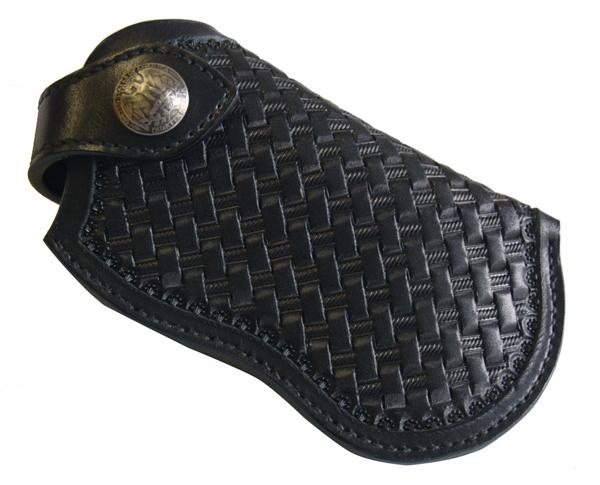 ハンドメイド レザーカービングiphoneホルダー(ブラック) 国産サドルレザー 日本製 オーダーメイド承ります