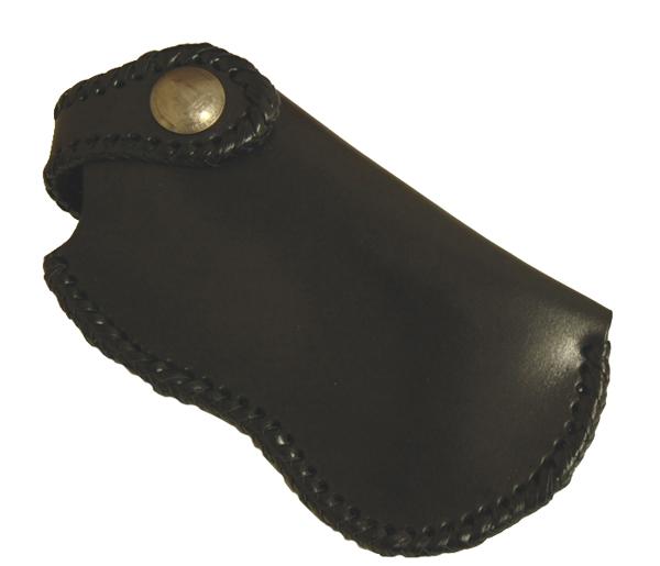 ハンドメイド レザーiphoneホルダーステッチ・ブラック オーダーメイド承ります