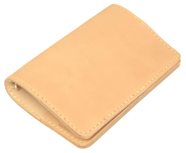 革製システム手帳 バインダーバイブルサイズ ヌメ革ナチュラル ネーム刻印無料 オーダーメイド承ります