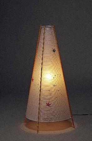 【インテリア照明】【Fores:林工芸】 S-741|和風スタンドライト(大)|NEO日本|【もみじ】【間接照明】【10P02Mar14】