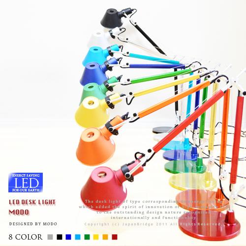LEDデスクライト【MODO:モード】led-desklamp| LEDデスクランプ|LED電球使用|スタイリッシュ|オフィス|書斎|北欧モダンデザイン|照明|寝室|SOHO|おしゃれ|省エネ|デザイナーズ|Artemide:アルテミデ風|ベース式【10P02Mar14】