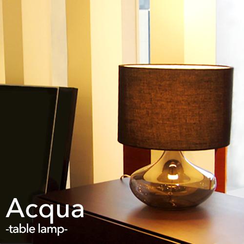 acqua アクア DI CLASSE ディクラッセ テーブルランプ LED対応 シンプル モノトーン ブラック ホワイト 洋風 おしゃれ モダン レトロ スタンドライト ホテルライク ガラス 上品 デスクランプ インテリア照明 間接照明 サブ照明 リビング用 居間用 (CP4(PX10
