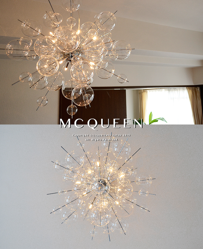 Pendant light lighting lights fashionable dining entrance stairwell stylish chrome glass bubble ball sphere bedroom entrance stores decoration stores interior designer Fantastico easy installation