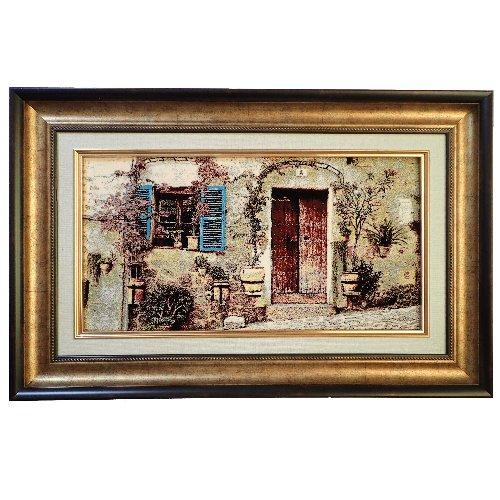 南欧旧家の風景(絨毯画)