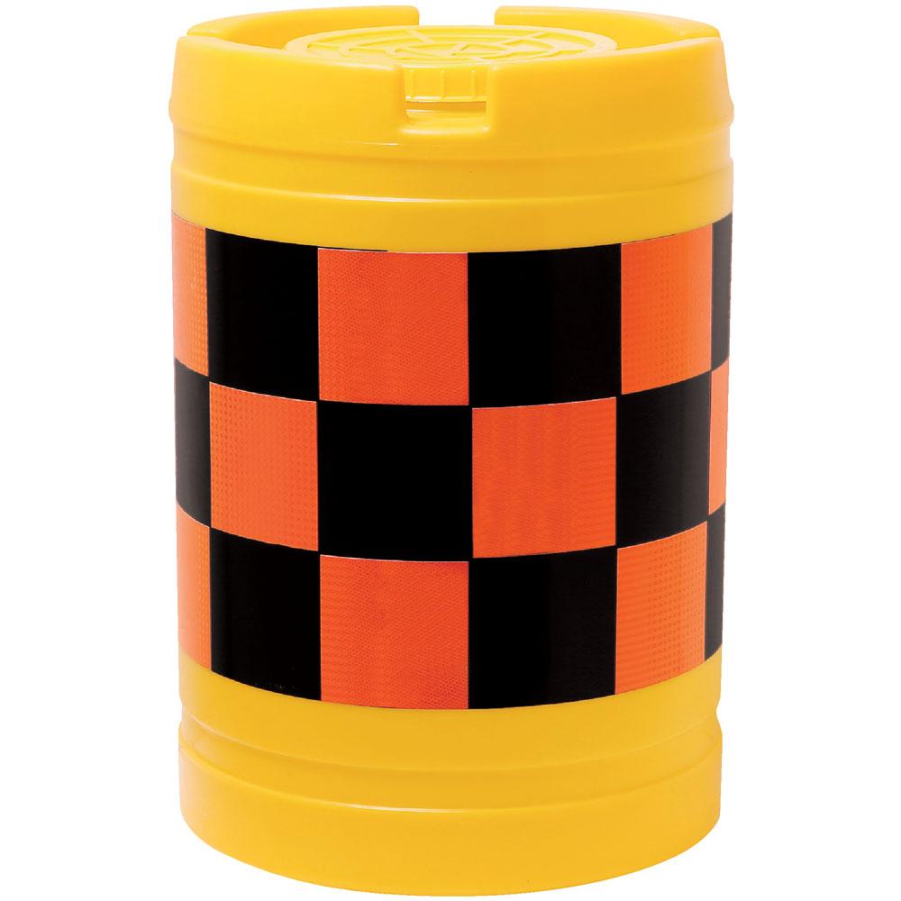 【車への注意喚起】【安全対策に】クッションドラム バンパードラム 20L水袋5枚付 オレンジ(高輝度反射)/黒(無反射)
