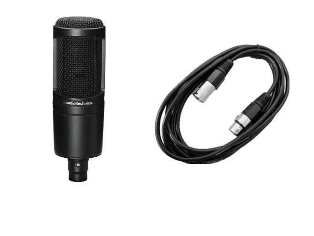 audio-technica AT2020 + ノーブランド 5m マイクケーブル セット(新品)【送料無料】