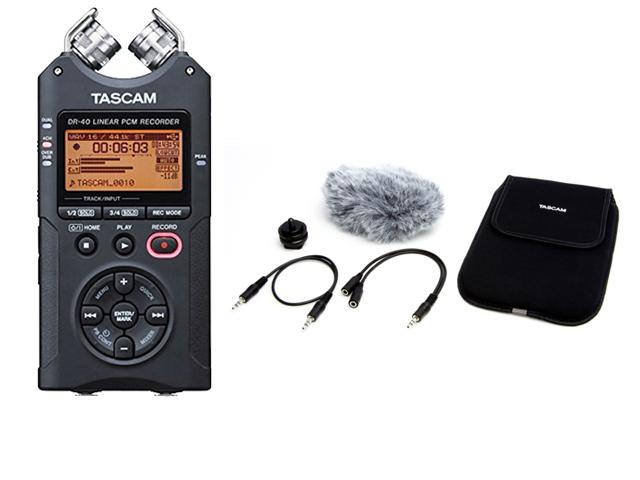 【即納可能】TASCAM DR-40VER2-J 日本語対応版 + アクセサリーパッケージ「AK-DR11C」セット(新品)【送料無料】