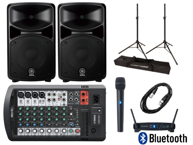 【スピーカースタンド+ワイヤレスマイク付】YAMAHA STAGEPAS 600BT (Bluetooth対応)(新品)【送料無料】