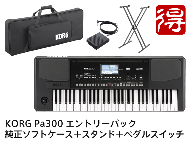 【即納可能】KORG Pa300 エントリーパック(新品)【送料無料】