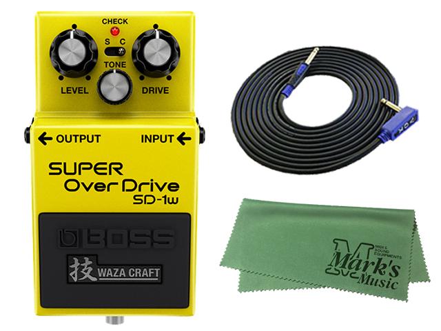 【即納可能】BOSS SD-1W(J) + 3m ギターケーブル VOX VGS-30 セット[マークス・オリジナルクロス付](新品)【送料無料】