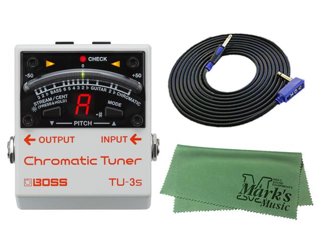 ■店舗在庫あります!即納可能!!■ 【即納可能】BOSS TU-3s + 3m ギターケーブル VOX VGS-30 セット[マークス・オリジナルクロス付](新品)【送料無料】
