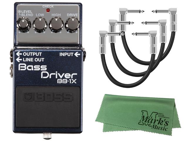 【即納可能】BOSS Bass Driver BB-1X+パッチケーブル3本+ クロス セット(新品)【送料無料】