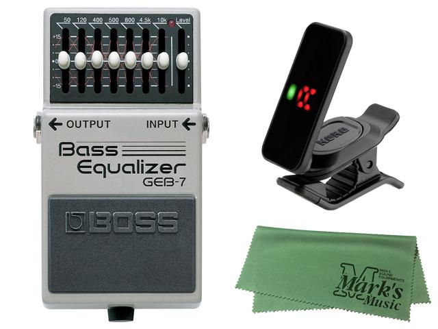 【有名人芸能人】 【即納可能】BOSS Bass Equalizer GEB-7 + KORG Pitchclip 2 PC-2 + マークスオリジナルクロス セット(新品)【送料無料】, INDEEDバッグショップrustica e0ed78f8