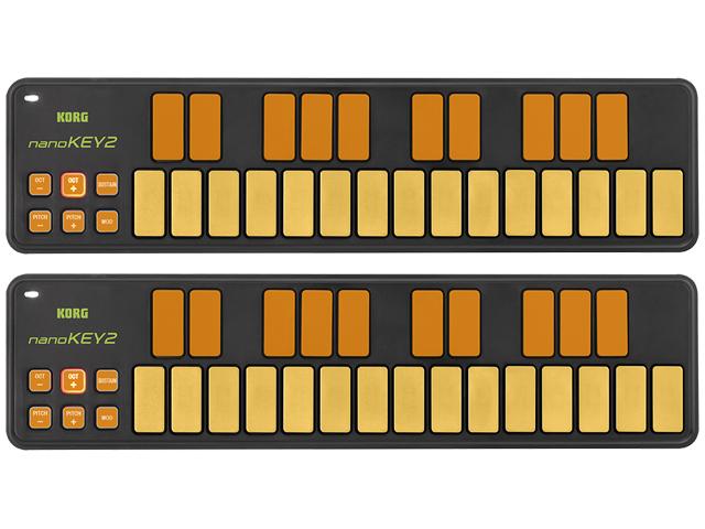 【まとめ買い】KORG nanoKEY2 ORGR オレンジ&グリーン 2個セット(新品)【送料無料】