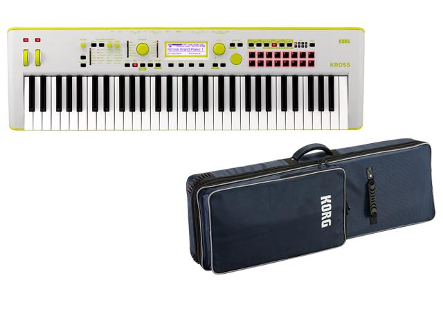 KORG KROSS 2 61鍵盤モデル ネオンカラー グリーン KROSS2-61 GG Gray-Green + 純正ソフトケース SC-KROSS2 61 セット(新品)【送料無料】