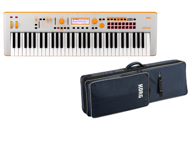 KORG KROSS 2 61鍵盤モデル ネオンカラー オレンジ KROSS2-61 GO Gray-Orange + 純正ソフトケース SC-KROSS2 61 セット(新品)【送料無料】