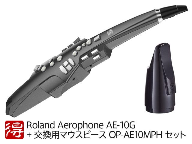 ファッションデザイナー 【即納可能】Roland Aerophone + AE-10G グラファイト AE-10G・ブラック + 交換用純正マウスピース Aerophone OP-AE10MPH セット(新品)【送料無料】, Sparkle:7da7b3cc --- nyankorogari.net