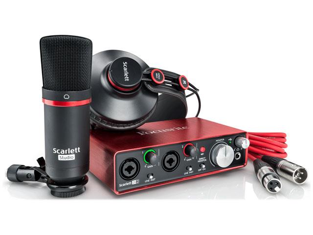 【即納可能】Focusrite Scarlett 2i2 Studio G2(新品)【送料無料】【国内正規流通品】
