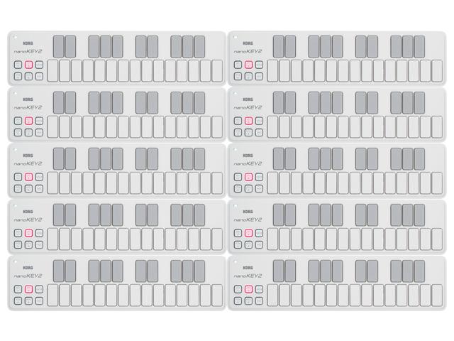 【まとめ買い】KORG nanoKEY2 WH ホワイト 10個セット(新品)【送料無料】