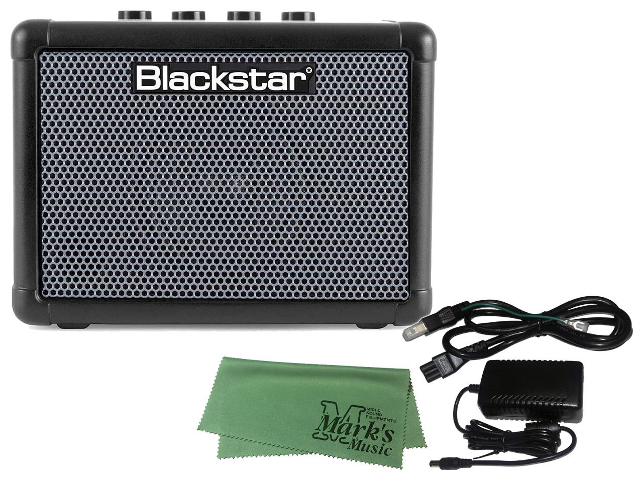 Blackstar FLY 3 BASS + 純正ACアダプター マークスミュージック オリジナルクロス 送料無料 セット FLY-PSU ランキングTOP10 定番から日本未入荷 新品