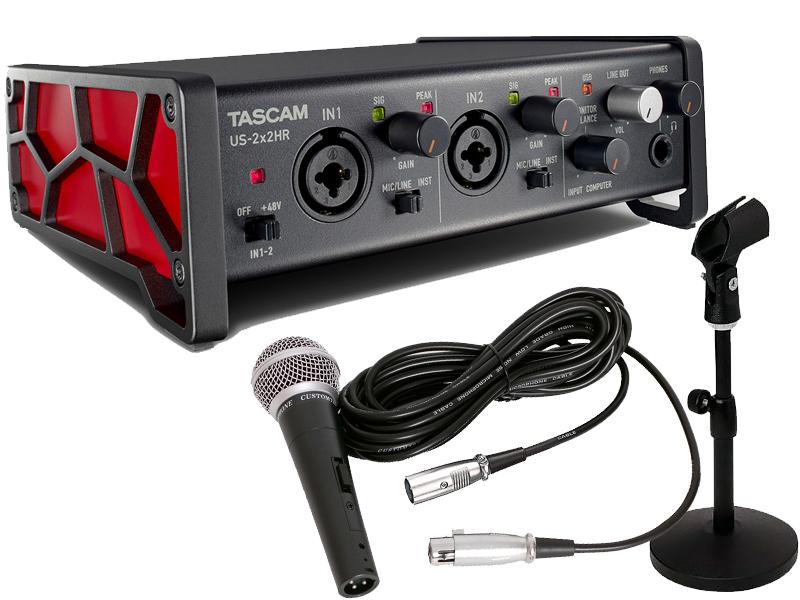 ■店舗在庫あります 即納可能 登場大人気アイテム ■ TASCAM セットアップ 送料無料 新品 宅録セット US-2x2HR