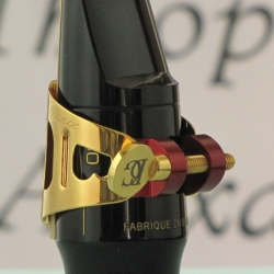 アルトサックス リガチャー(キャップ付) BGデュオLD1金メッキ仕上げ!美しい音とデザイン!