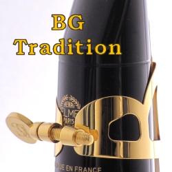 テナーサックス リガチャー(キャップ付) BGトラディション GL千葉県のサックス販売はここで管楽器の専門店/吹奏楽部