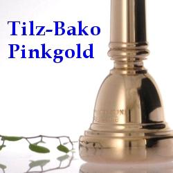 トロンボーン・ユーフォニアムマウスピース(太管用)ティルツ バコ・モデル ピンクゴールド