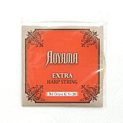 ハープ弦 アオヤマ (AOYAMA/青山)3オクターブGガット弦