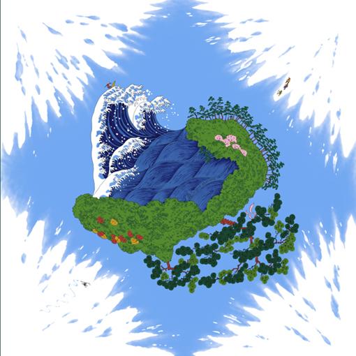風呂敷 包むことを考えてデザインされた MISATO ASAYAMA の綿小風呂敷 直営ストア 有名な 綿小風呂敷 50cm 手ぬぐい3枚以上まとめ買いで5%OFF 富士山風呂敷 メール便対応