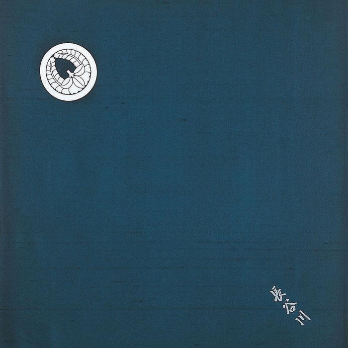 儀式 結納用品白山紬 風呂敷正絹白山紬 家紋入 三巾100cm【御誂タイプ】