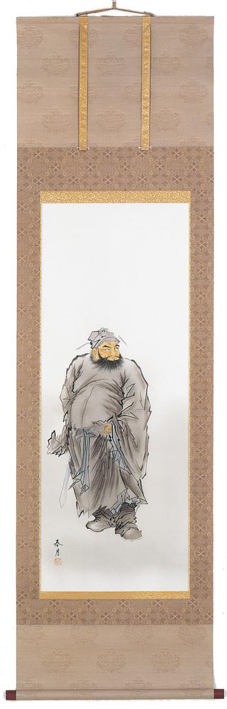掛け軸 鐘馗(井上 春月)【送料無料】【代引き手数料無料】