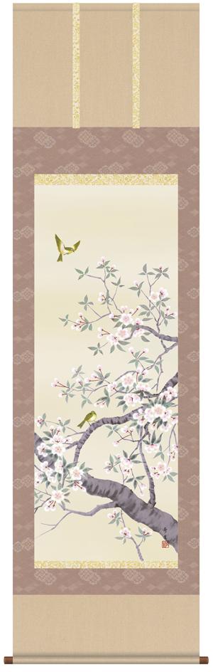 【掛け軸/掛軸/花鳥画】桜花(北山 歩生)【送料無料】【代引き手数料無料】
