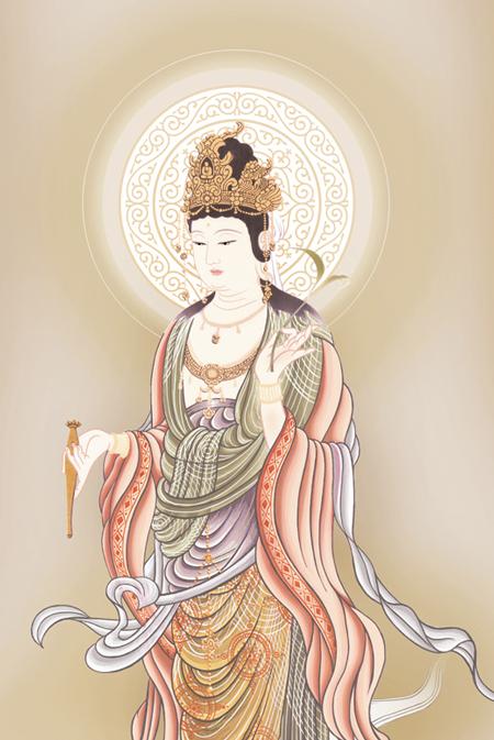 鈴木翠朋・雲上観音 (掛軸)