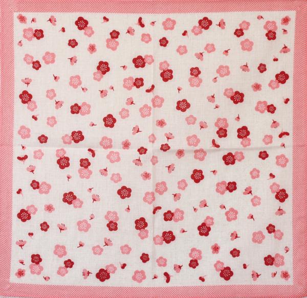 お歳暮 大人気 可愛いMitsukura大判ガーゼハンカチ 風呂敷 ガーゼ ピンク 開店祝い Mitsukuraガーゼハンカチ 梅柄