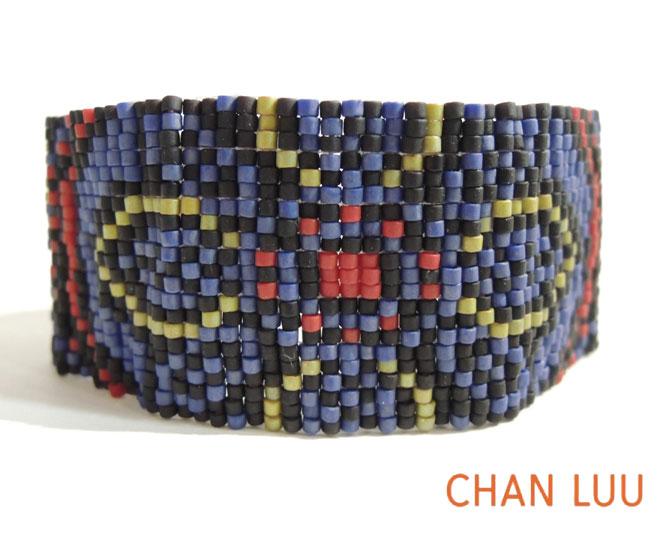 CHAN LUU(チャンルー)カフブレスレット ミックスビーズ BSM1387   【marquee】