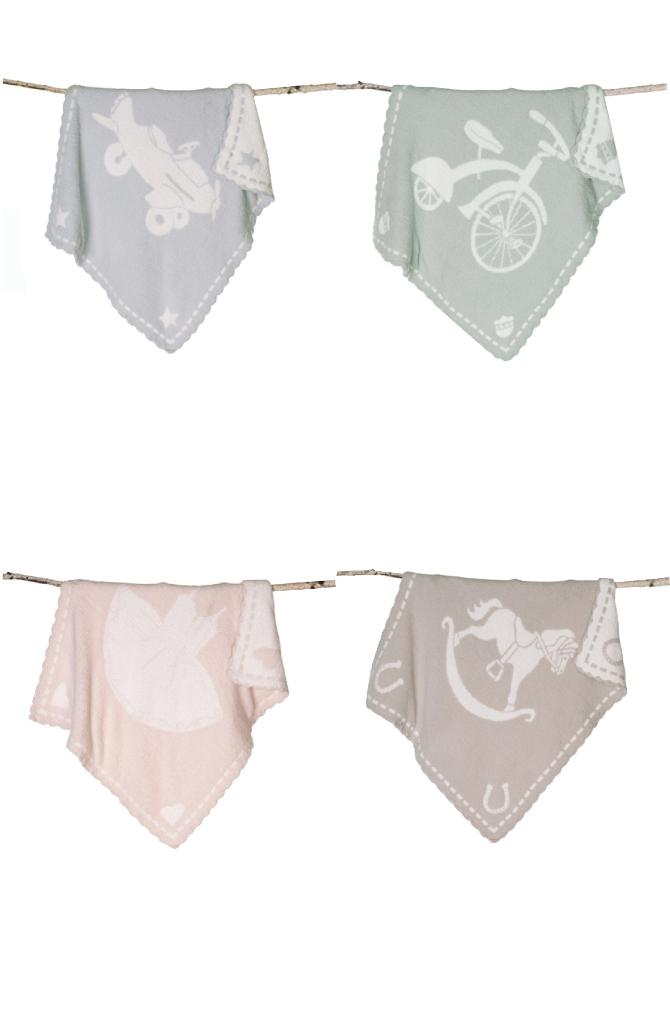 【★200円OFFクーポン!+5%還元!★】ベアフットドリームス ブランケット BAREFOOT DREAMS CozyChic Scallop Blanket 551 【marquee】
