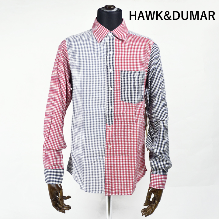 HAWK&DUMAR チェックシャツ BLOCK LS SHIRT 【marquee】
