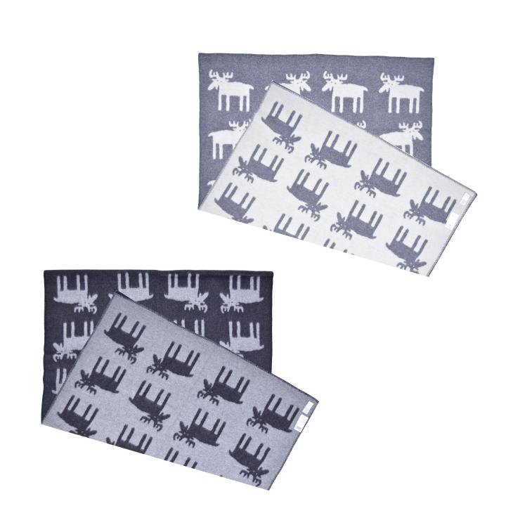 KLIPPAN クリッパン ブランケット MOOSE ムース ウール 130cm×180cm 2206 BENGT&LOTTA 【marquee】